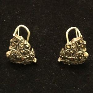 Marcasite Pierced Earrings